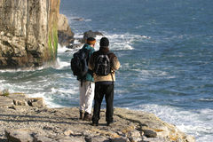 Two Hikers stock images