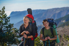 Two hikers Stock Image