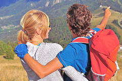 Two hikers Royalty Free Stock Photos