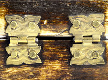 Two hinges for casket Royalty Free Stock Images