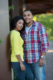 Two Hispanic Couple Engagement Picture Royalty Free Stock Photos