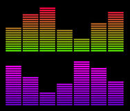 Two histograms. Yellow and pink music histograms Royalty Free Illustration