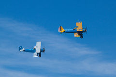 Two historic airplane, Madrid Royalty Free Stock Images