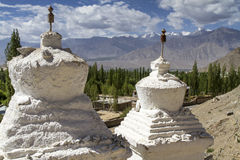 Two historic stupas Stock Photo
