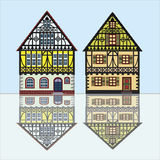 Two historical homes. Two historical houses anywhere from Europe Royalty Free Stock Photography