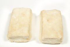 Two hojaldres, traditional spanish Christmas sweets Stock Image