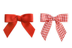 Two holiday bows, isolated. Isolated two deorative holiday bows Stock Photos