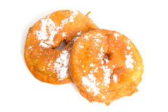 Two home baked Dutch appelflappen Stock Photo