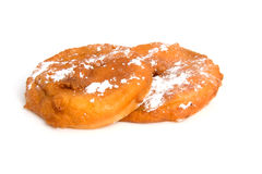 Two home bakes apple fritter Stock Photos