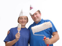 Two home painters stock image