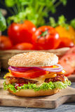 Two homemade burgers made from fresh vegetables Royalty Free Stock Photo