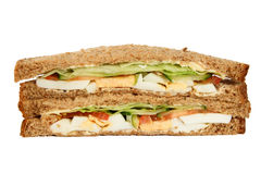 Two homemade sandwiches Royalty Free Stock Photos