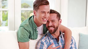 Two homosexual together stock video