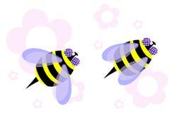 Two honeybees Stock Photo