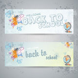 Two horizontal banners with globe Royalty Free Stock Image