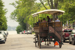 Two horse carriage in Charlottetown in Canada Stock Photo
