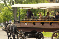 Two horse carriage with tourists in Charlottetown in Canada Stock Image