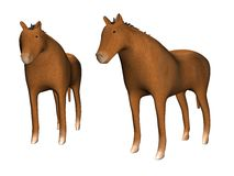 Two Horses_Raster Royalty Free Stock Photos