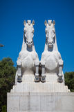 Two horses sculpture Stock Photography