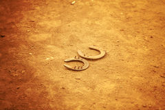 Two Horseshoes Royalty Free Stock Photos
