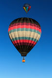 Two hot air balloon in the sky. Stock Photo