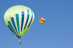 Two hot air balloons Royalty Free Stock Photos