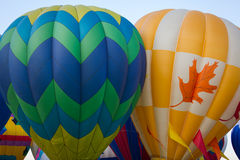 Two Hot Air Balloons Launching Stock Image