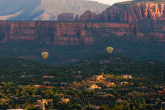 Two hot air balloons over Sedona, Arizona Royalty Free Stock Images