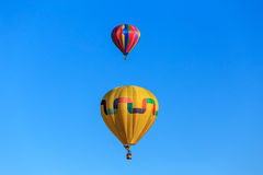Two hot air balloons in the sky. Stock Photography