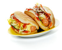 Two Hot Dogs Royalty Free Stock Image
