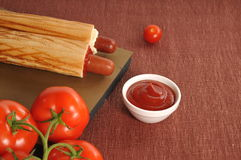Two hot dogs Royalty Free Stock Photography