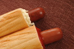 Two hot dogs Royalty Free Stock Photo