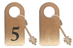 Two hotel keys Royalty Free Stock Photography