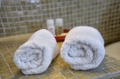 Two hotel towels Stock Photography