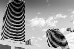 Two Hotel Towers At The City Of Gold Coast Stock Photo