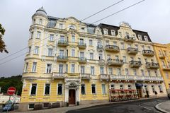 Two hotels and two different tenement houses royalty free stock photo