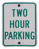 Two Hour Parking Royalty Free Stock Photos
