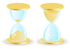 Two  hourglass icons Stock Photography