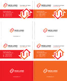 Two houses business card 1 Stock Image