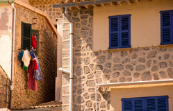 In between two houses in spain Stock Photography