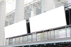 Two huge Blank Billboard royalty free stock image