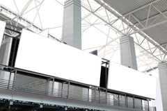 Two huge Blank Billboard in airport Royalty Free Stock Photo