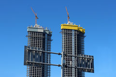 Two huge construction Stock Photography