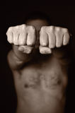 Two human fists. Royalty Free Stock Photography