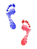 Two human footprints Royalty Free Stock Image