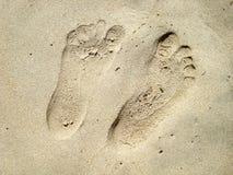 Two human footprints Stock Photo
