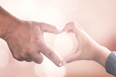 Two human hands sign Royalty Free Stock Image