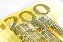 Two hundred euro. Banknote on white background Royalty Free Stock Images