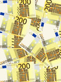 Two hundred euro background vertical. Background from a two hundred euro banknotes Stock Photography