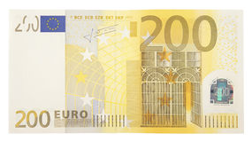 Two hundred euro banknote Royalty Free Stock Images